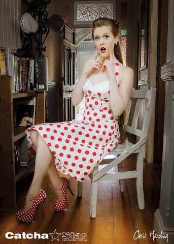 Pin Up Photography: Red Devotchkin