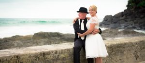 bride and groom wedding photography Snapper Rocks