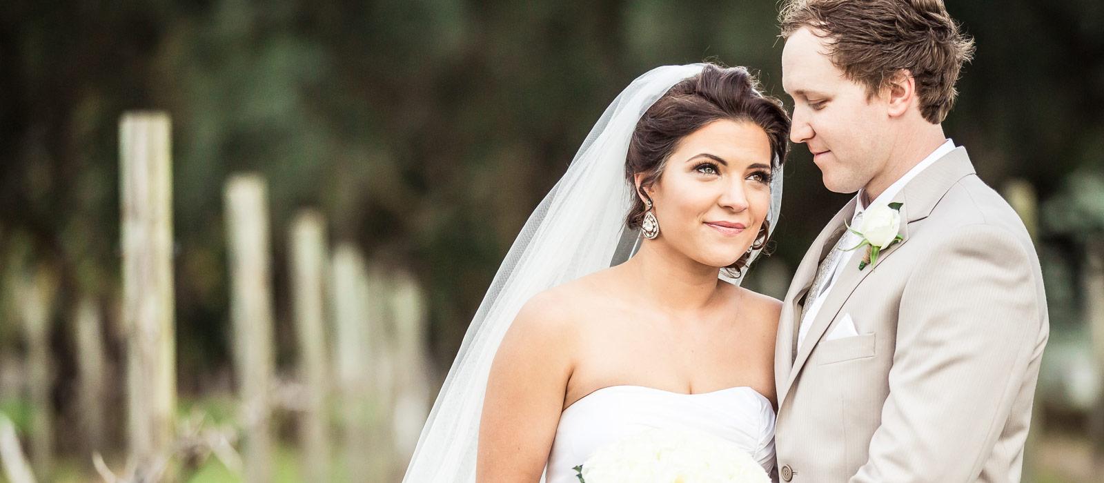 Bride and groom portrait by Gold Coast wedding photographer Chris Harding