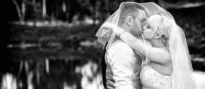 Bride and Groom Kissing Photo by Gold Coast Wedding Photographer Chris Harding