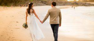 Bride and groom wedding photography Cabarita Beach