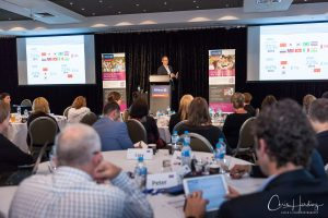 Wide Shot of Speaker at Allianz National Health Summit, Gold Coast QLD