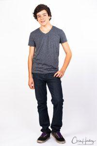 Actor Headshot Photography Full Length White Background