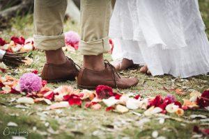 Bride and Groom Feet Portrait