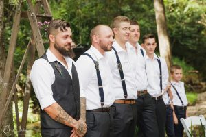 The Groom and Groomsmen at the Altar