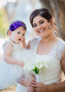 Bride Carrying Daughter