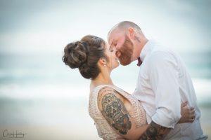 Bridal Dip on Beach
