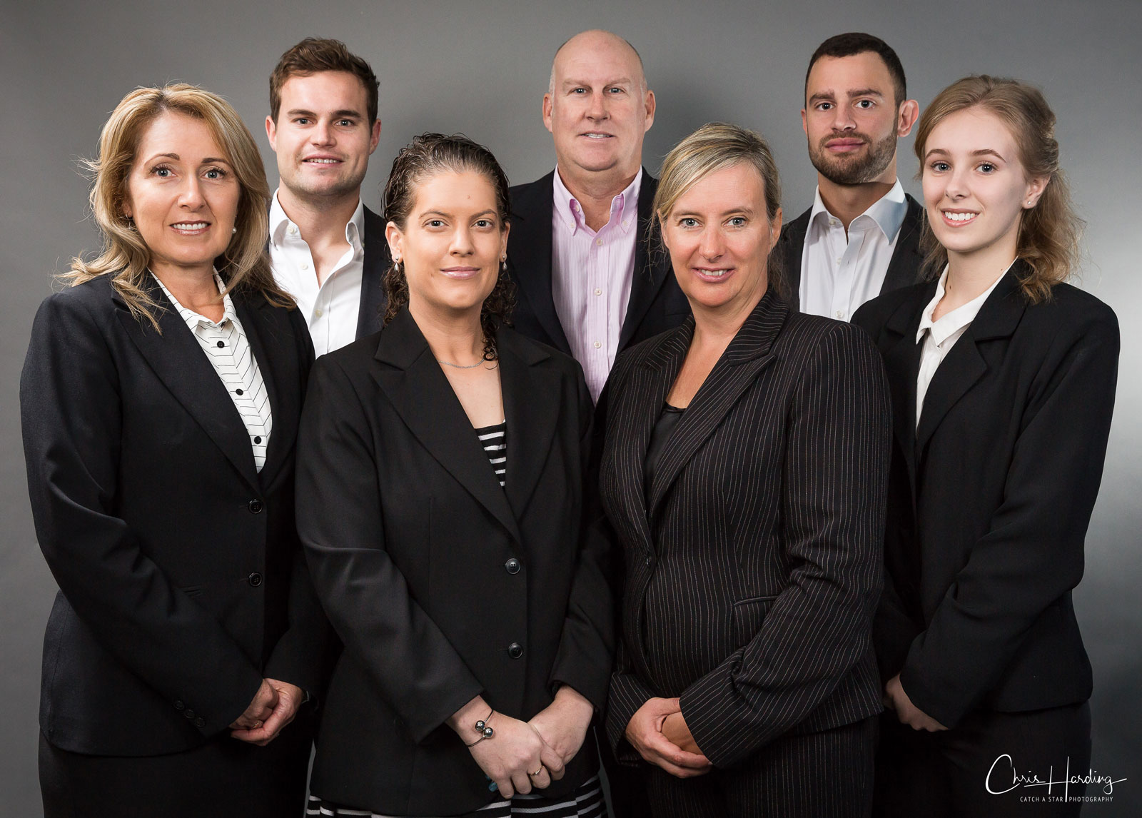 Corporate portrait group photo