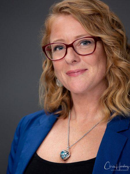 Female Corporate Portrait Grey Background