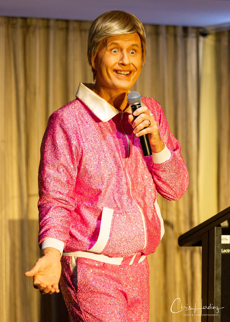 Bob Downe Performing at Awards Dinner