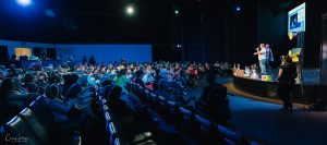 Wide Shot of Audience and Stage