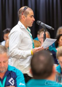 Delegate at Microphone