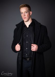 Male Model in Black Outfit