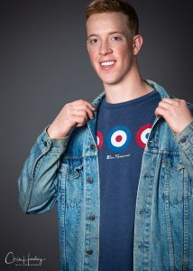 Male Model in T Shirt and Jacket