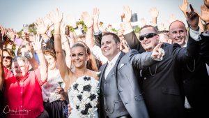 Wedding Party Waving