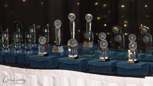 Trophies and Awards on Table